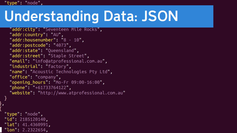 Understanding data: JSON