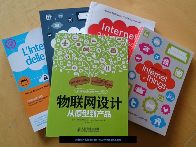 The book Designing the Internet of Things, in all available languages
