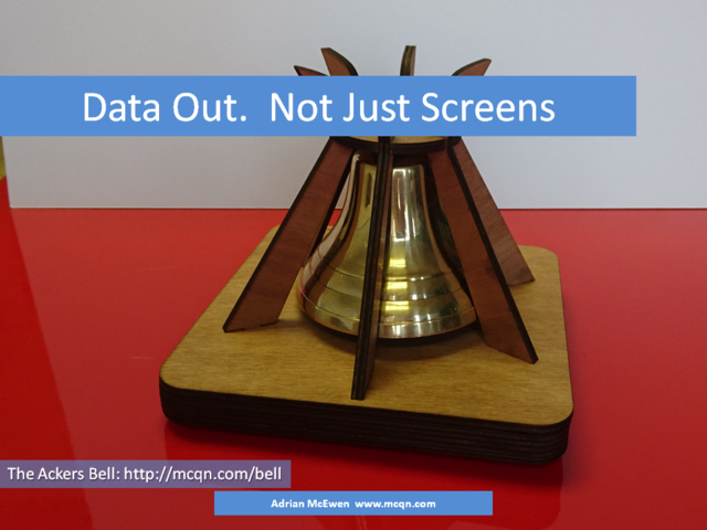 Data Out.  Not Just Screens