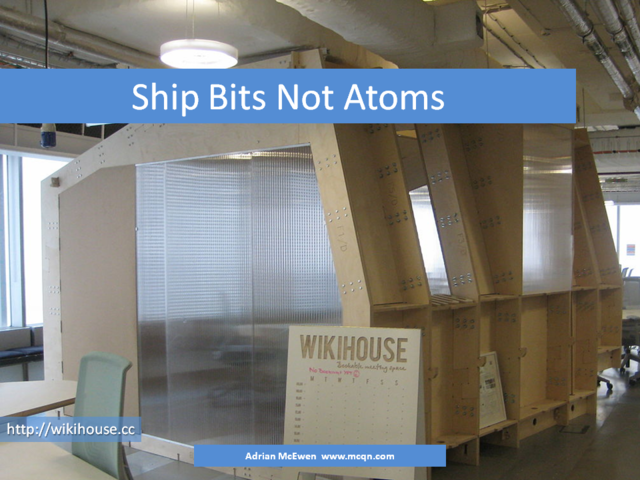 Ship Bits Not Atoms