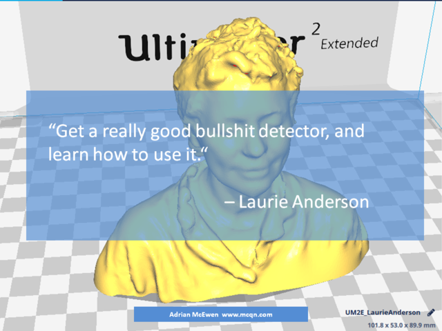 Get a really good bullshit detector, and learn how to use it.