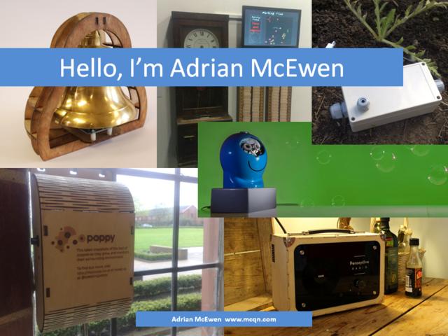 Hello, I'm Adrian McEwen
