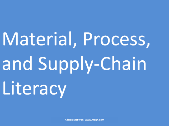 Material, Process, and Supply-Chain Literacy