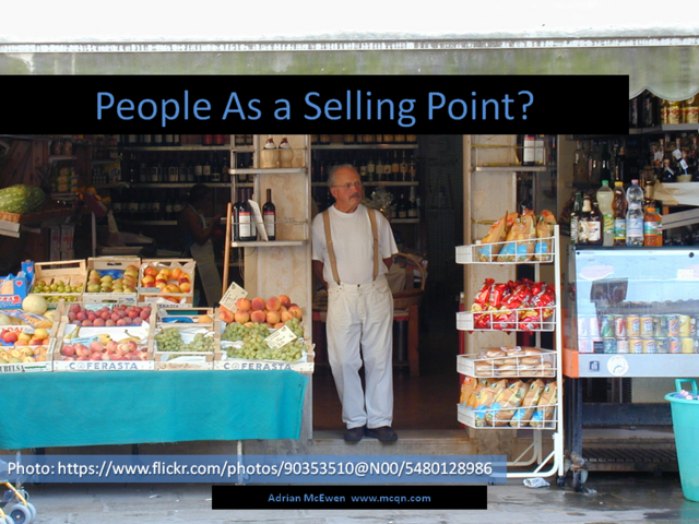 People as a Selling Point?