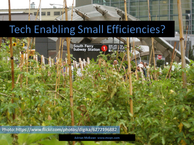 Tech Enabling Small Efficiencies?