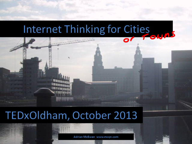Internet Thinking for Cities