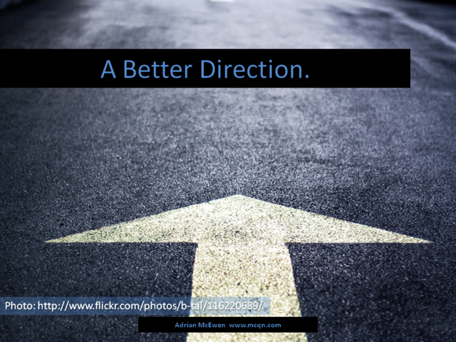A Better Direction