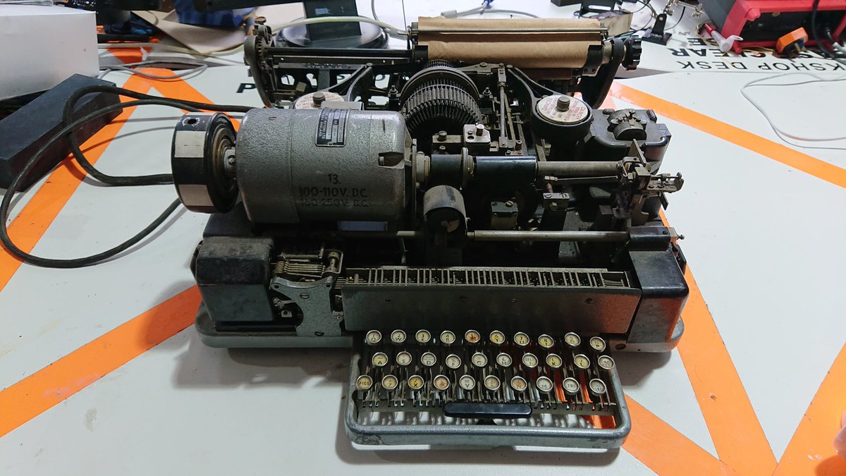 An old WWII-era teleprinter