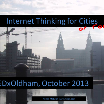 Internet Thinking for Cities (or Towns)